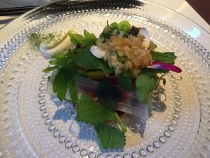 Satio tempestas: garden stuff - Jerusalem artichokes, tomato, asparagus, and various greens