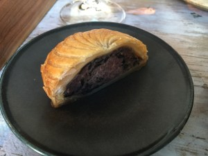 veal meat and liver pate in pastry