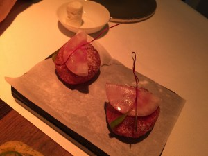 Chioggia beet and Mochi