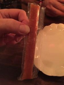 Peach in a tube