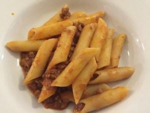 Pasta al sugo - pasta with meat sauce