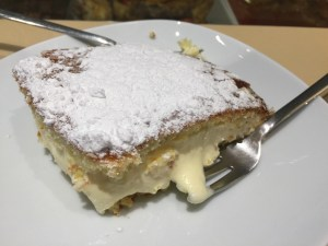 Sponge cake with chantilly cream - Traditional cake in Florence