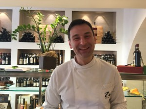 Alberto Navari of the mother/ son team that cooks and owns this place