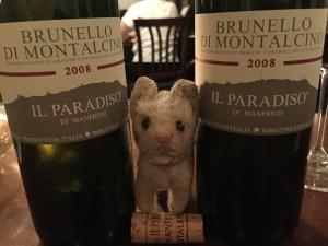 Frankie and wine
