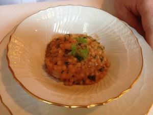 Il Cuscu di Enza (shrimp with couscous)