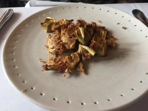 fried alcachofas (artichokes)