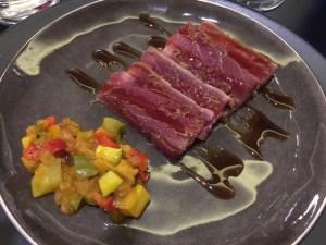 Tuna teriyaki with ratatouille