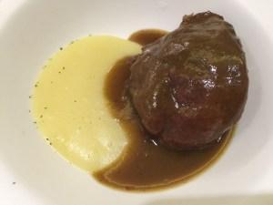 Iberian pork cheek with mashed potatoes