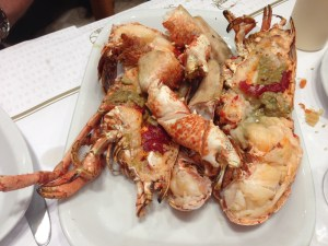 Grilled European lobster