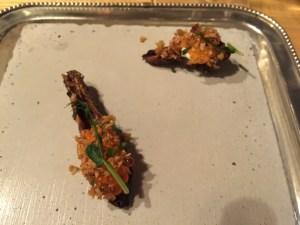 artichoke with sour cream and caviar