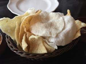 Selection of papadums