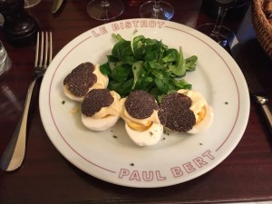 Hard boiled egg, mayo and black truffle
