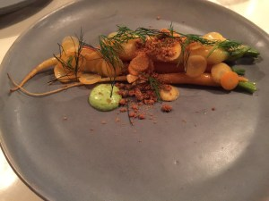 Carrot with dill and buttermilk crumbles