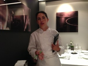Chef visits with everyone in the room. She helped us select our choices off the tasting menu.