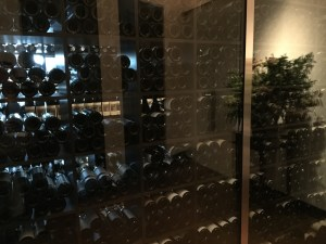 looking in to some of the wine cellar