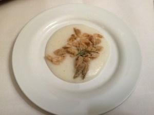 White polenta with schie
