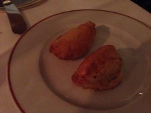 Celery and horseradish pastry