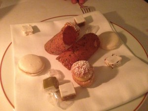 Assorted sweets - macarons, nougat,