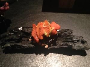 Sea urchin millefeuille (slices)