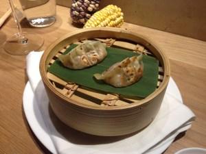 Sucking pig gyoza (dumpling)