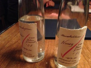 Mirabellen plum wine made by the manager's family