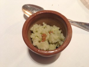 Parsley root juice, apple mash and mustard