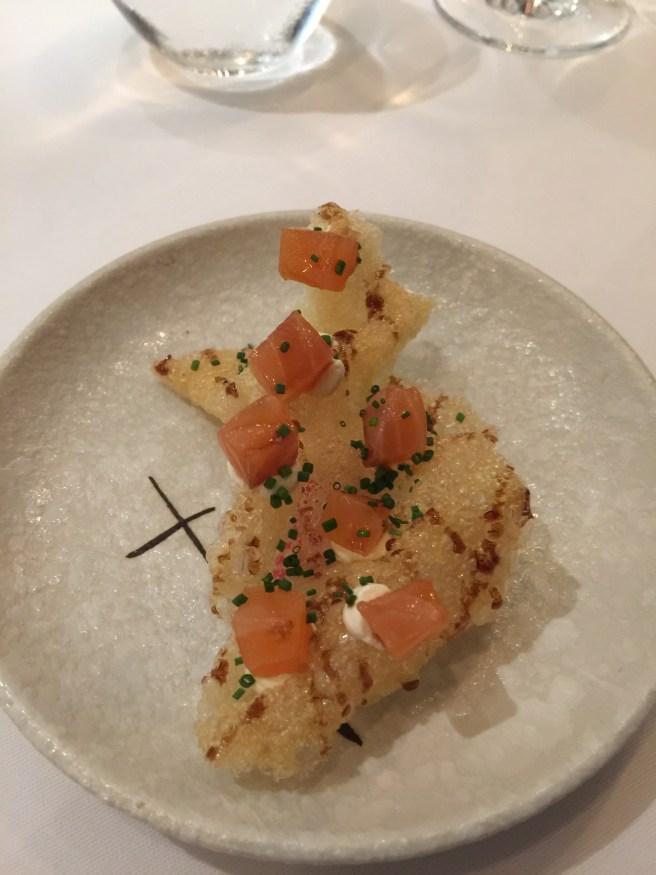 puffed potato with salmon