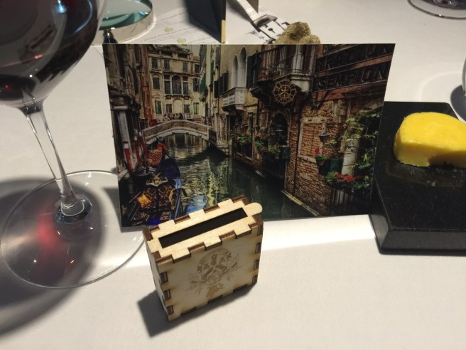 our personalized postcard, since we love Venice