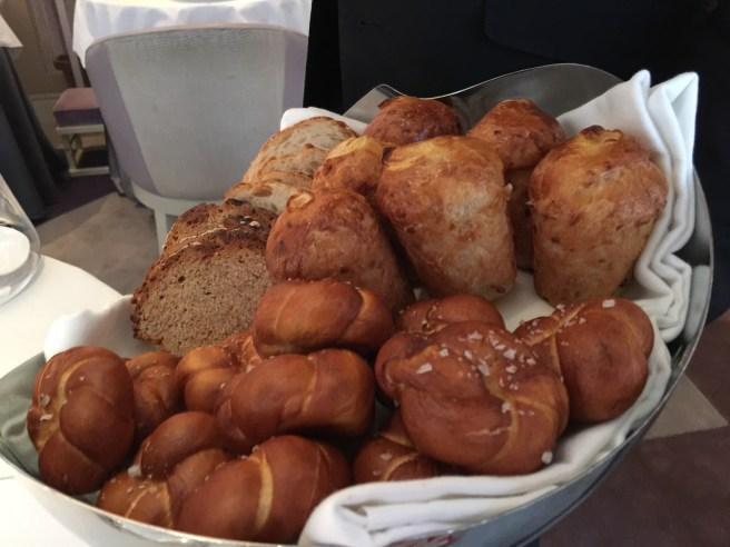 Bread choices: Bacon roll, pretzel roll, sour dough bread