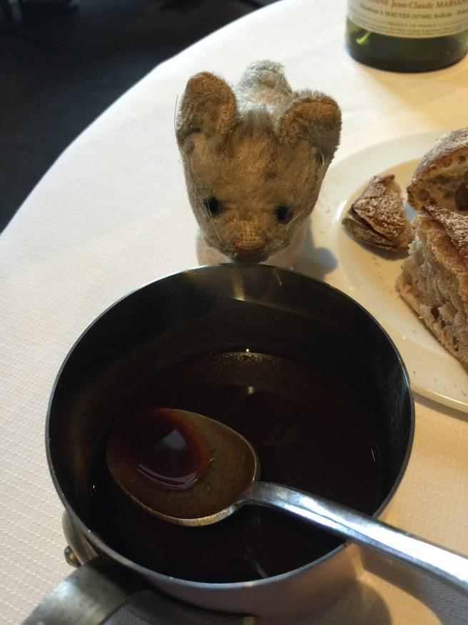 Frankie checks out the bowl