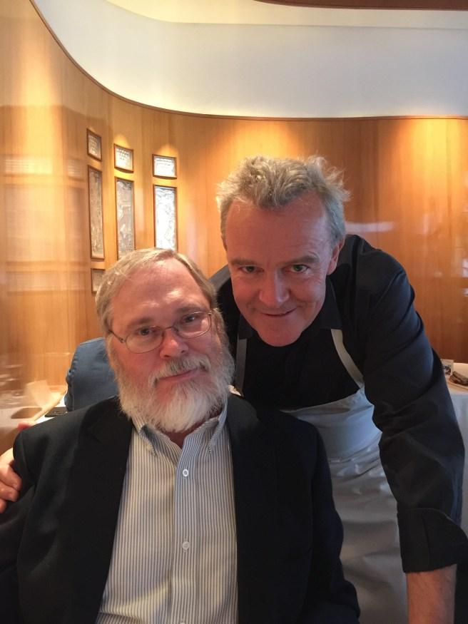 Charles and chef Alain Passard
