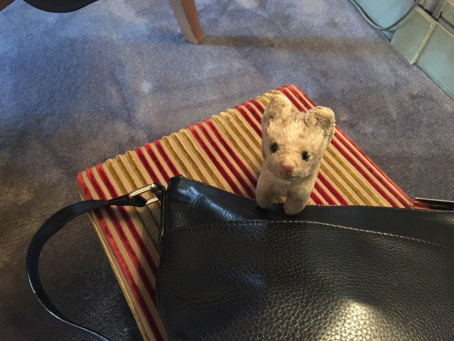 Frankie played on the purse stool