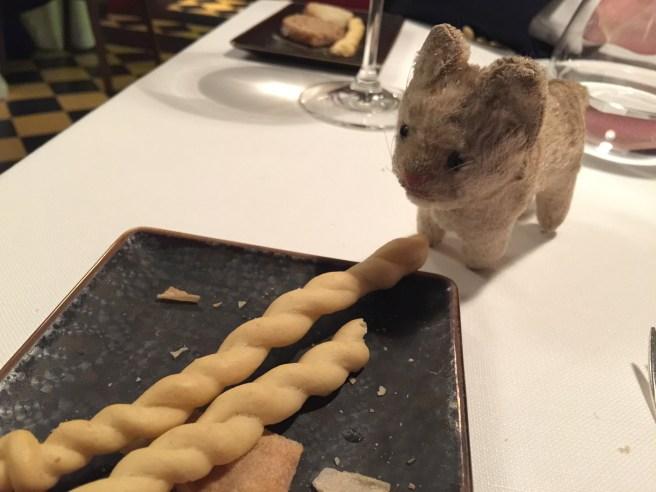 Frankie liked the bread sticks