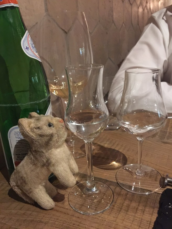 Frankie insisted we finish the meal with grappa