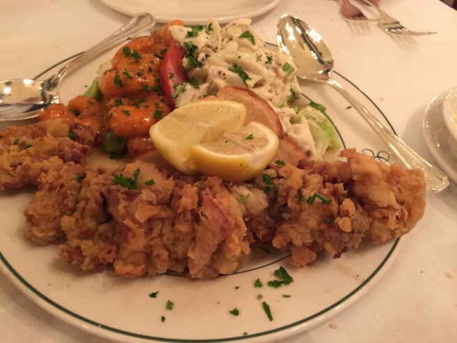 Goute: shrimp remoulade and crab maison with fried oysters