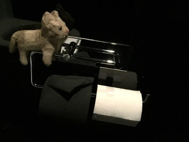 Frankie had never seen black toilet paper
