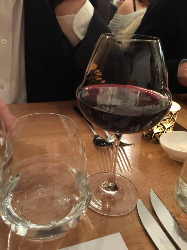 interesting wine & water glasses