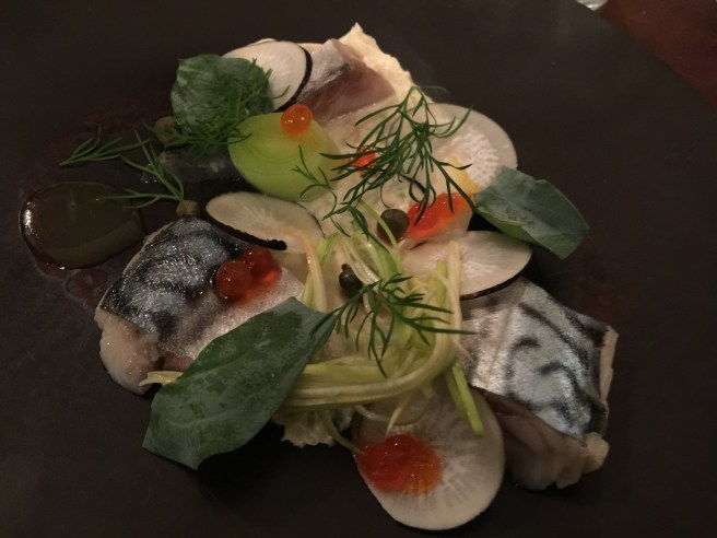 Maquereau, Poireau: Mackerel, leek and lemon