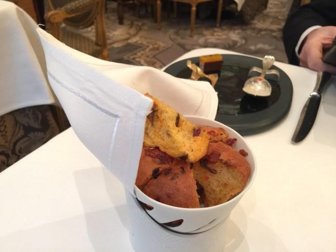 Hot bread snack with chorizo