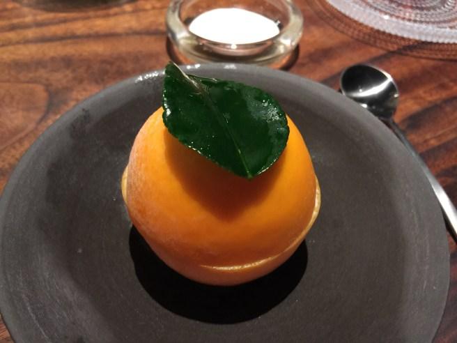 Blood orange with citrus buttermilk ice cream