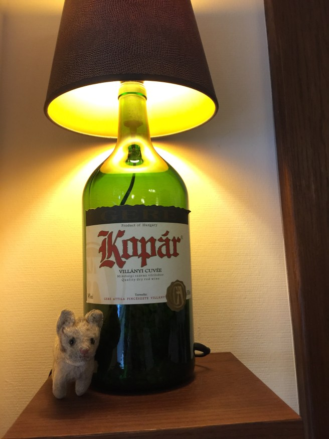 Frankie wanted to take the wine lamp home!