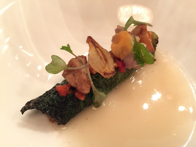 Lamb, kale, baked paprika