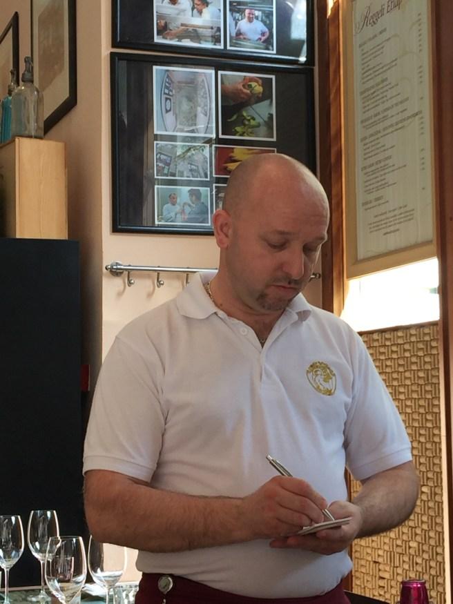 really nice waiter