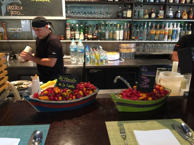 more peppers at the bar