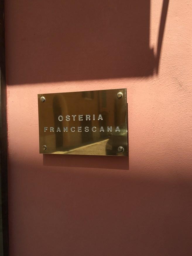 sign outside