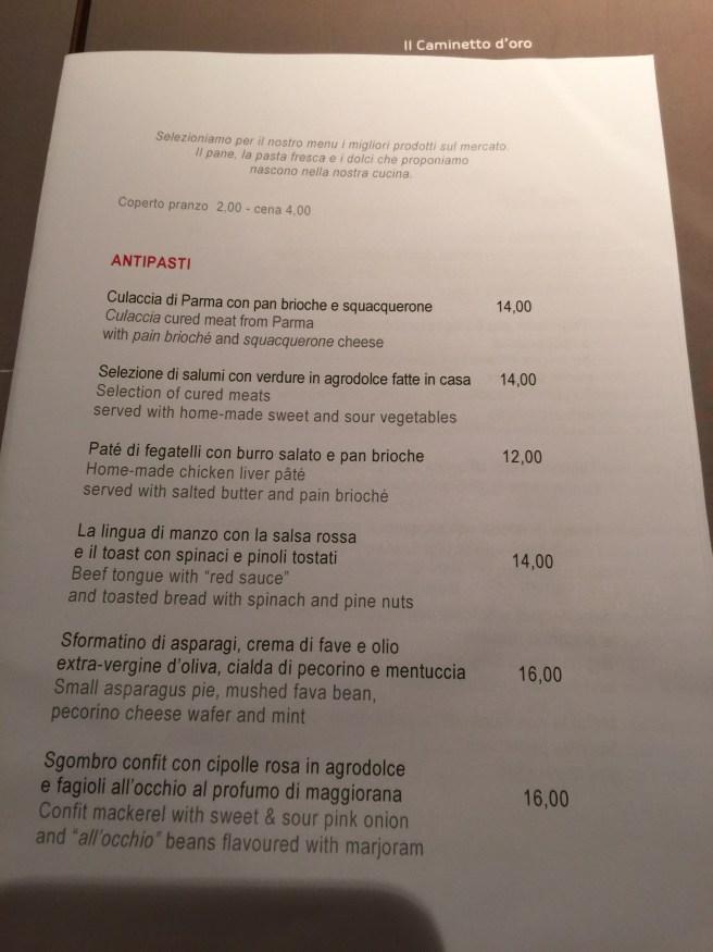 antipasta menu