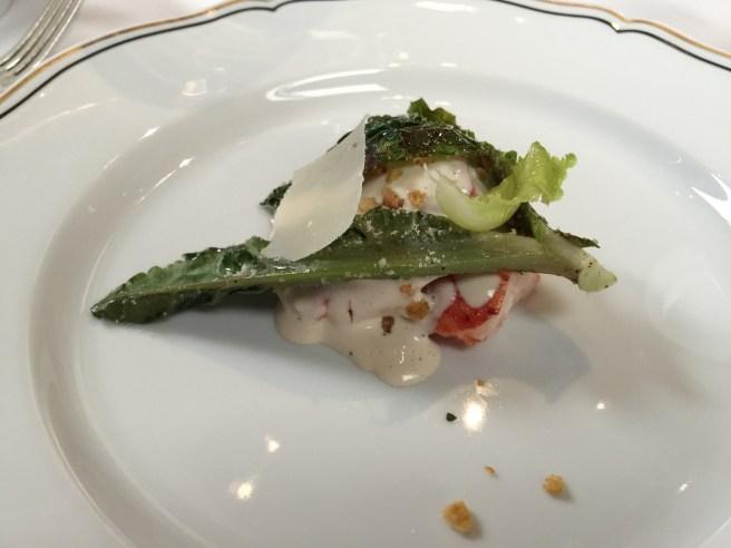 Lobster alla Cesare: Grilled Romaine, Pane Grattato & Sweet Sour Onions
