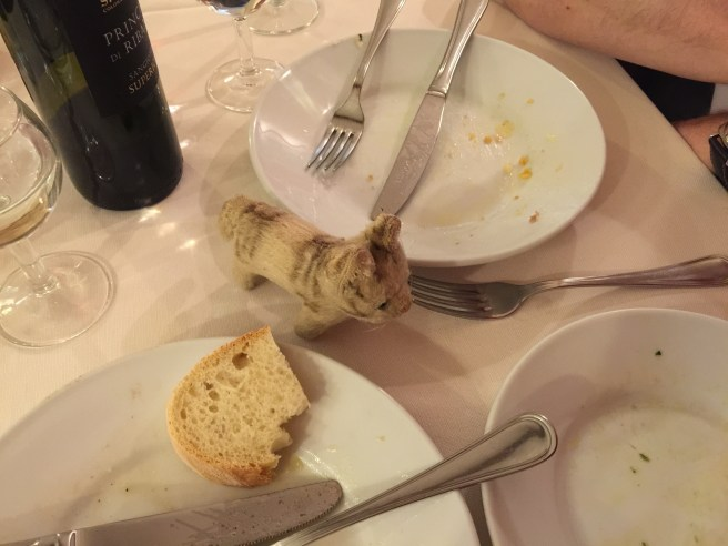 """Frankie checked to make sure we joined the """"clean plate club"""""""