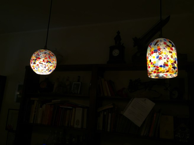 A number of fixtures of Murano glass