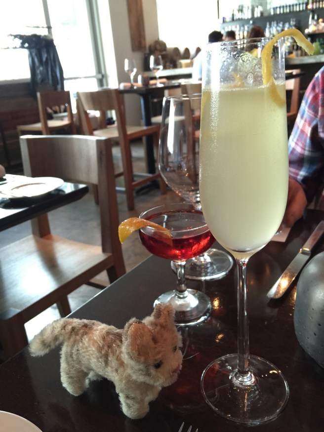 Frankie checked out the cocktails: negroni, French 75